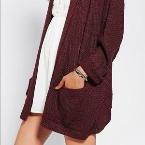 Urban Outfitter BDG maroon cardigan sweater
